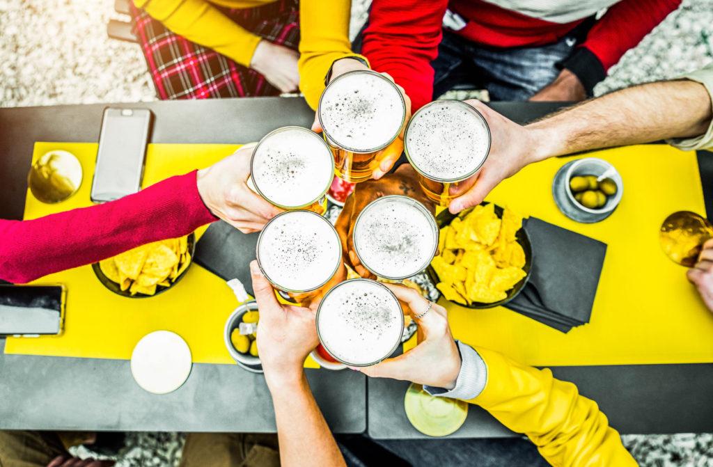 biertjes op het terras